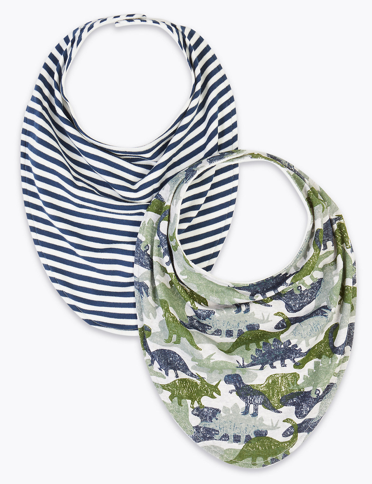 2 Pack Adaptive Cotton Printed Bibs