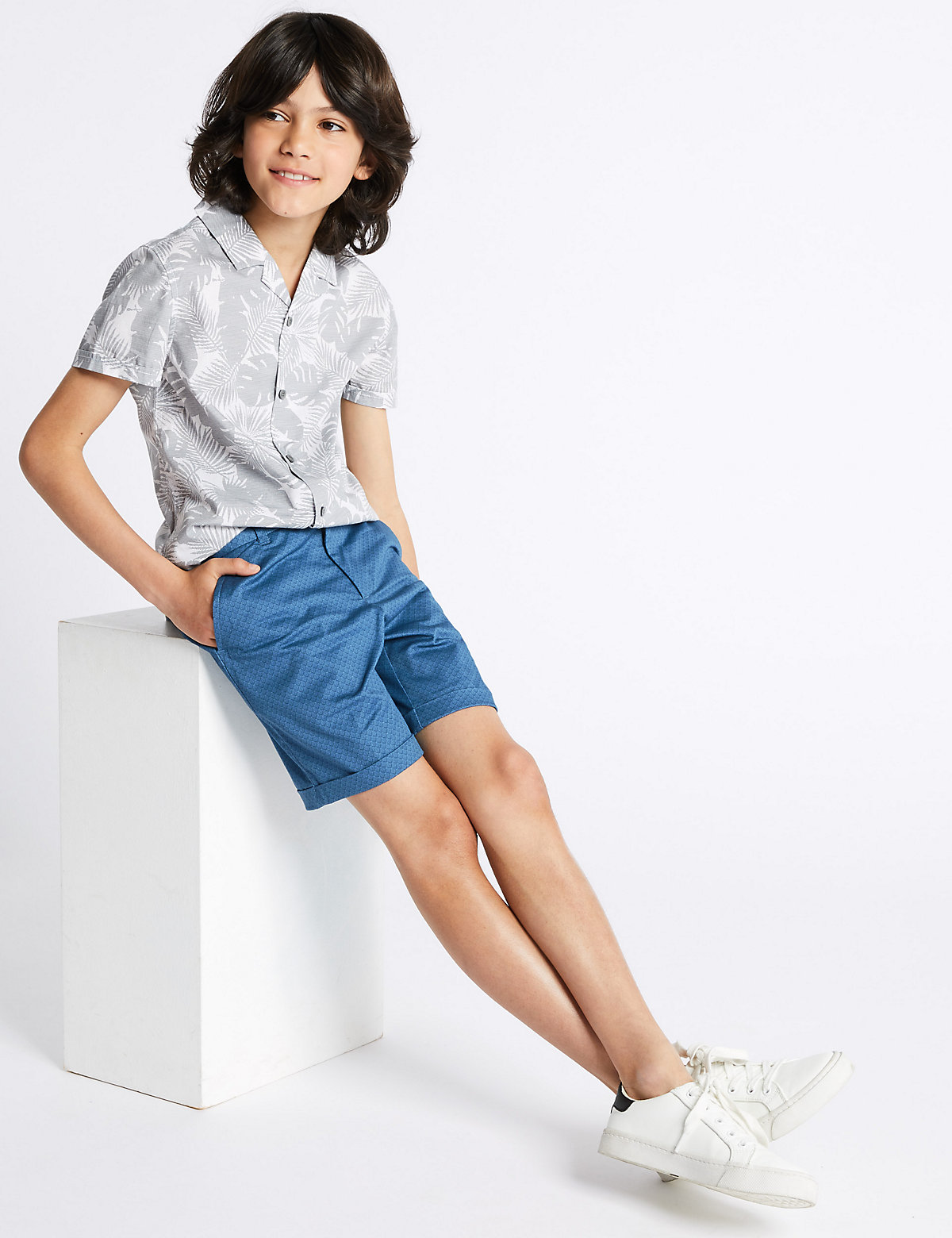 Autograph Cotton Chino Shorts with Stretch (3-16 Years)