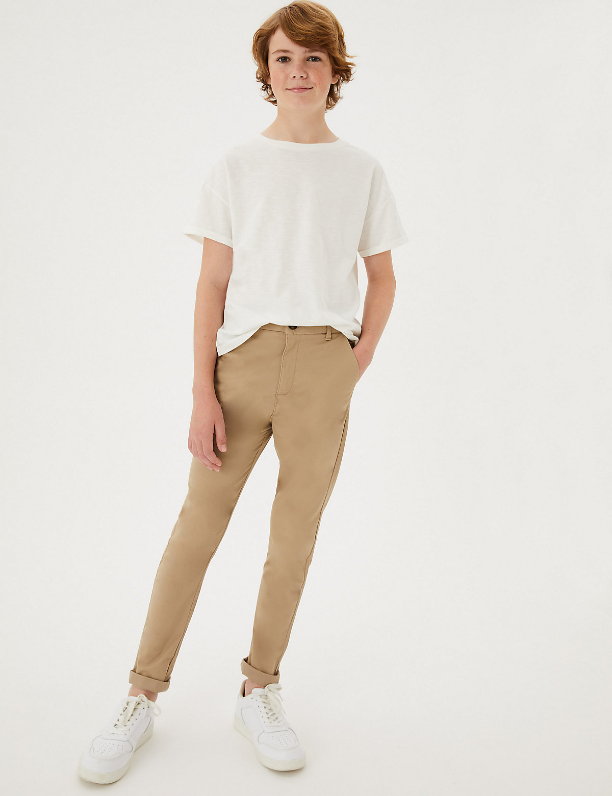 Cotton Chinos with Stretch (3-16 Yrs)