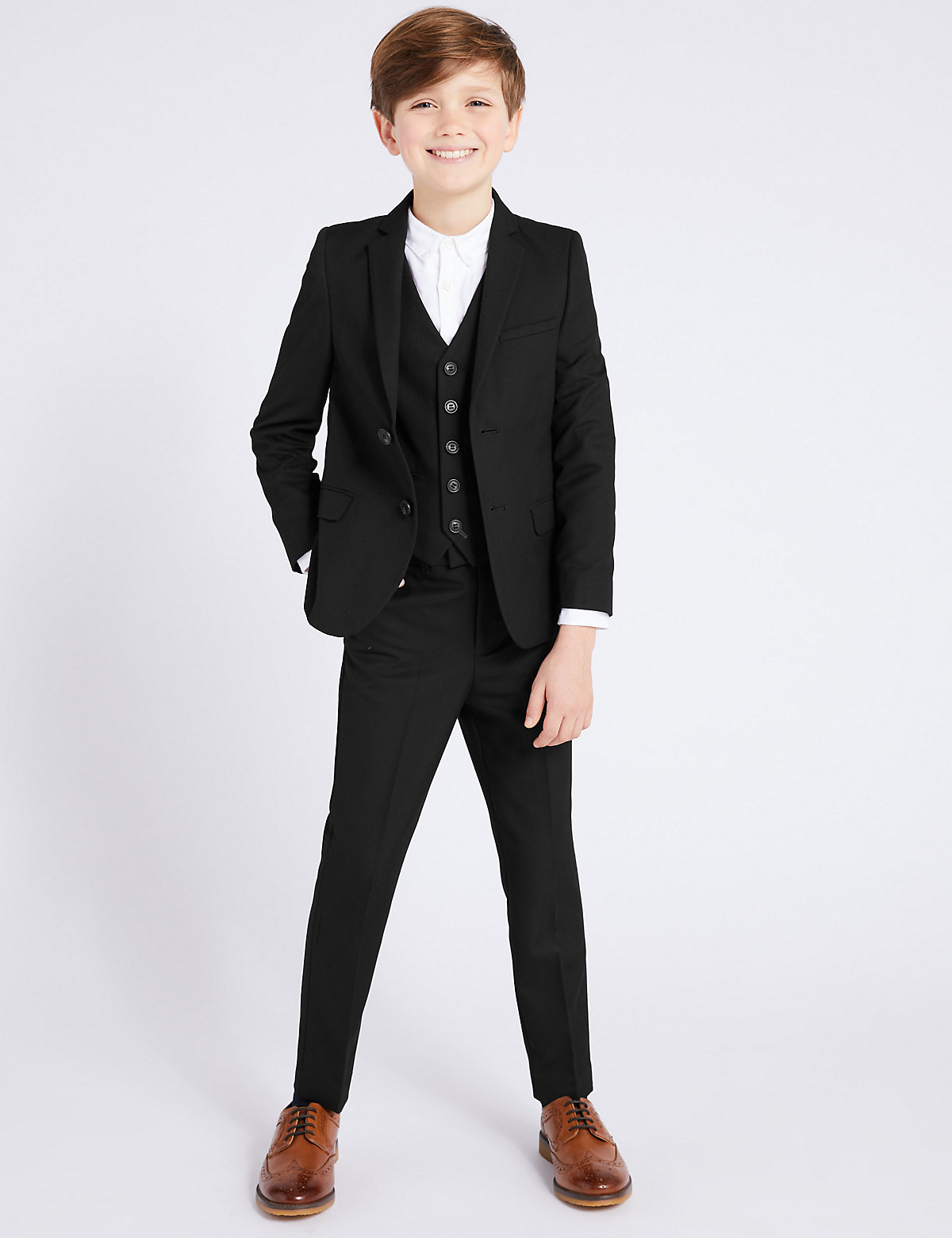 Black Suit Trousers (3-16 Yrs)