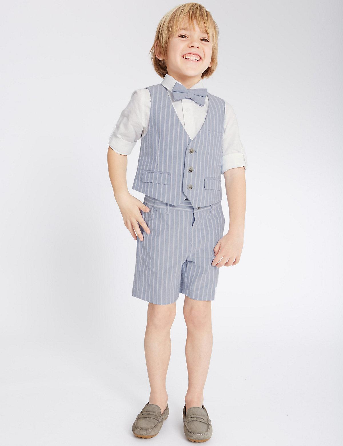 3 Piece Waistcoat Shirt & Bow Tie (3 Months  5 Years)