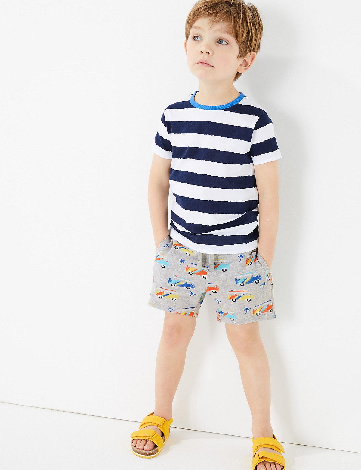 Cotton Campervan Shorts (2-7 Yrs)