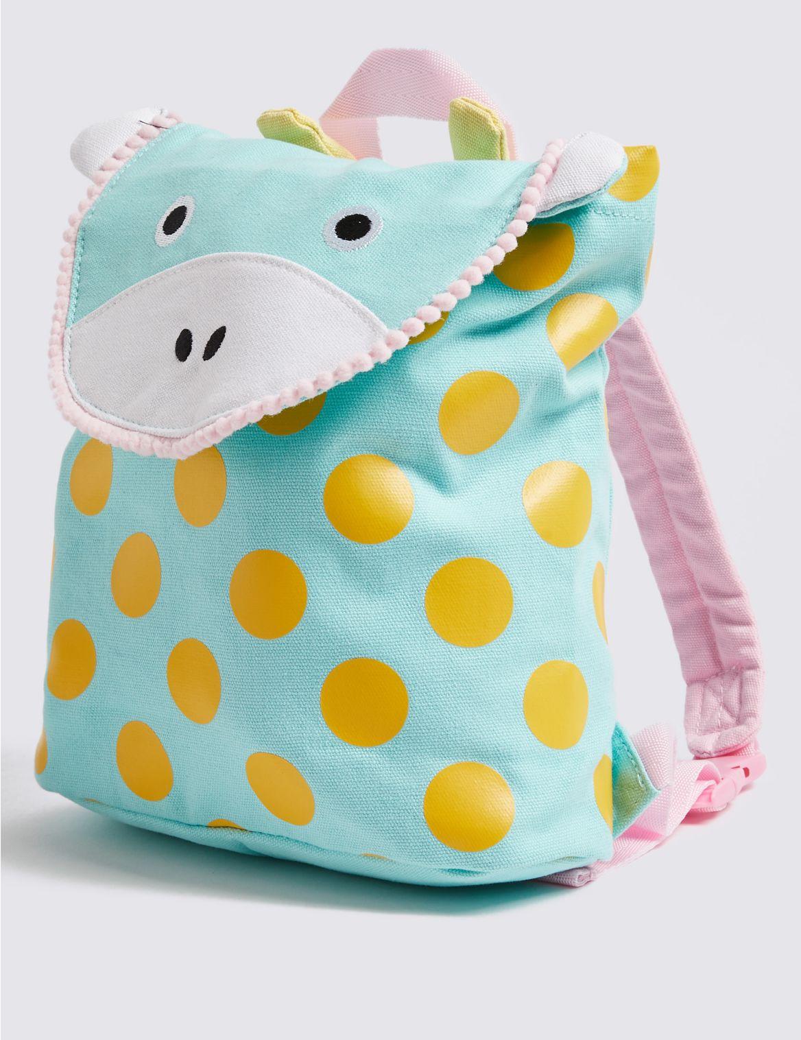 Kids' Pure Cotton Giraffe Backpack yellow