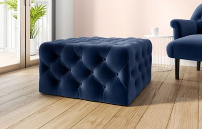Large Square Button Footstool