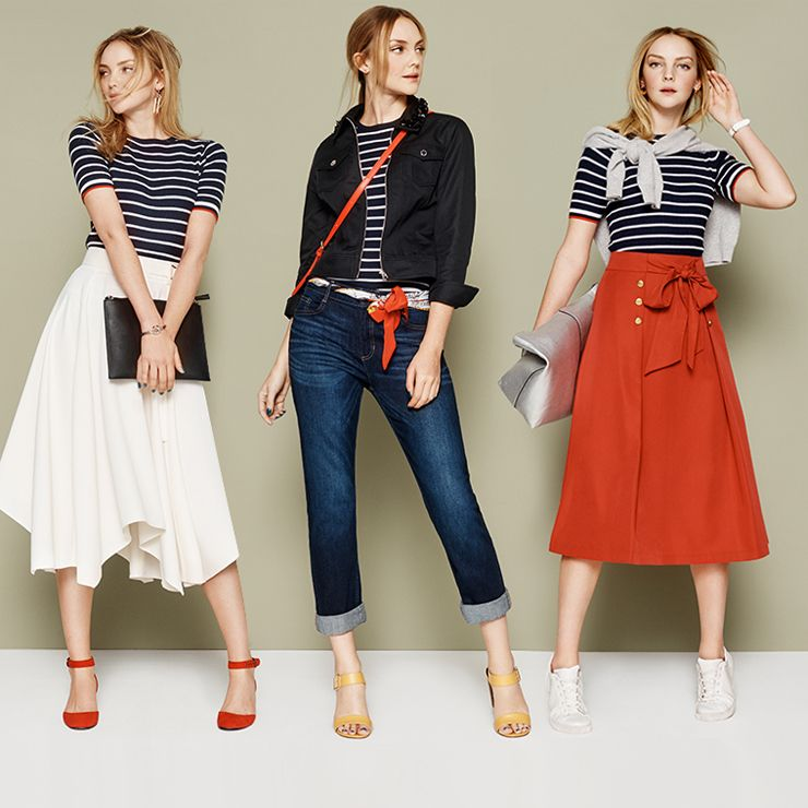 2865b0a5fc When it comes to stripes, the Breton top reigns supreme. Whether you go  full-on nautical or just read between the lines, here are three new ways to  wear ...