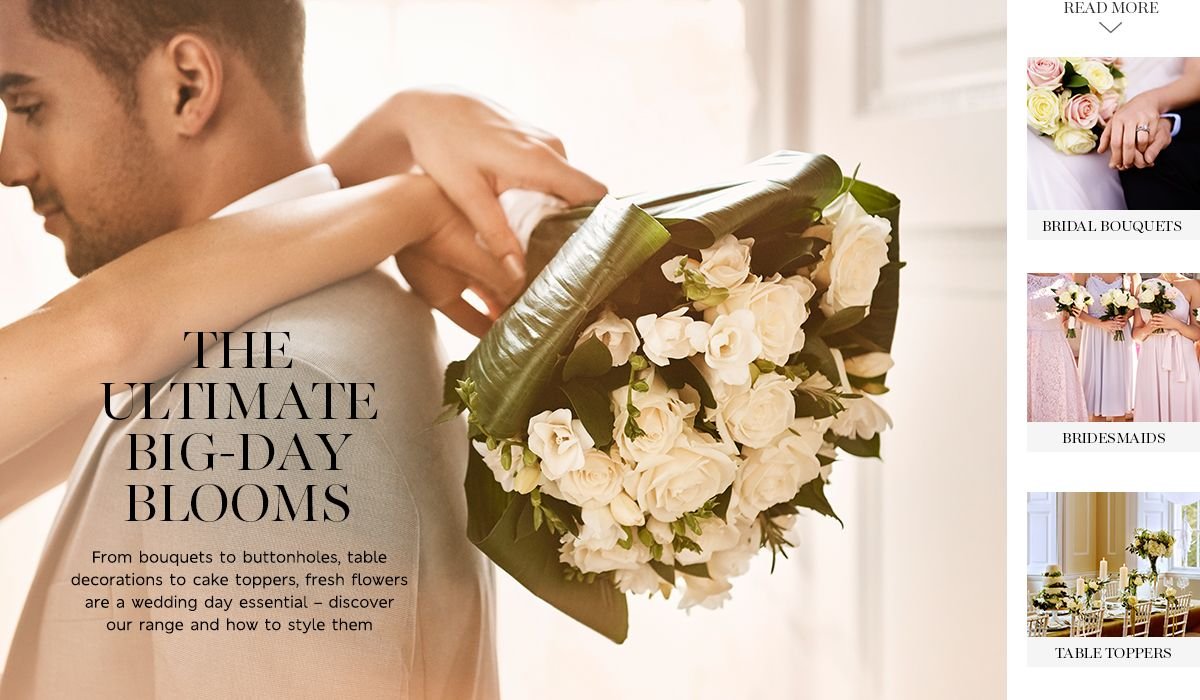 Beautiful wedding flowers from bouquets to buttonholes table decorations to cake toppers fresh flowers are a wedding day essential discover our range and how to style them izmirmasajfo