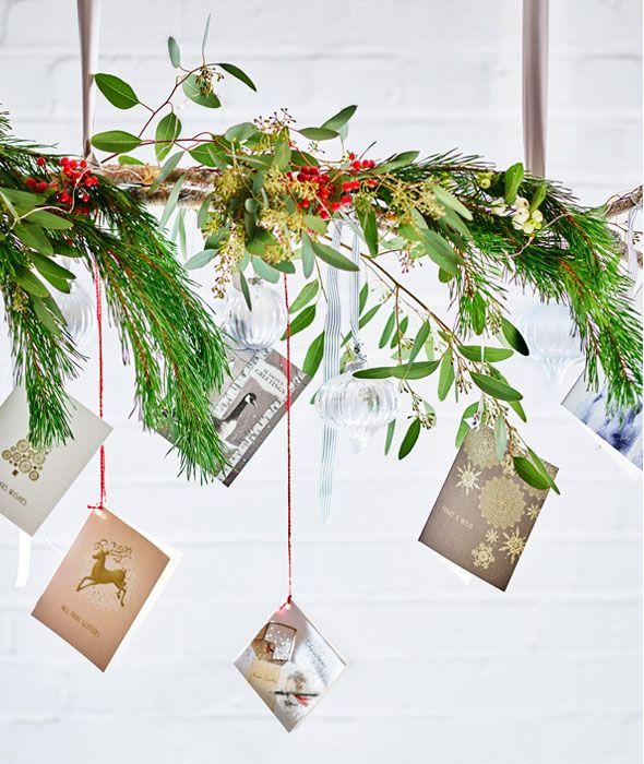 Creative christmas card display hanging ideas m s
