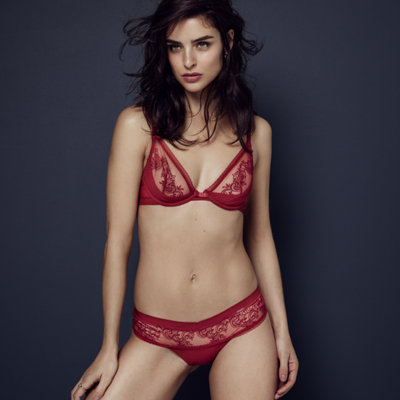 Red-hot lingerie