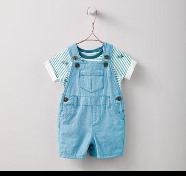 Blue dungarees and matching vest