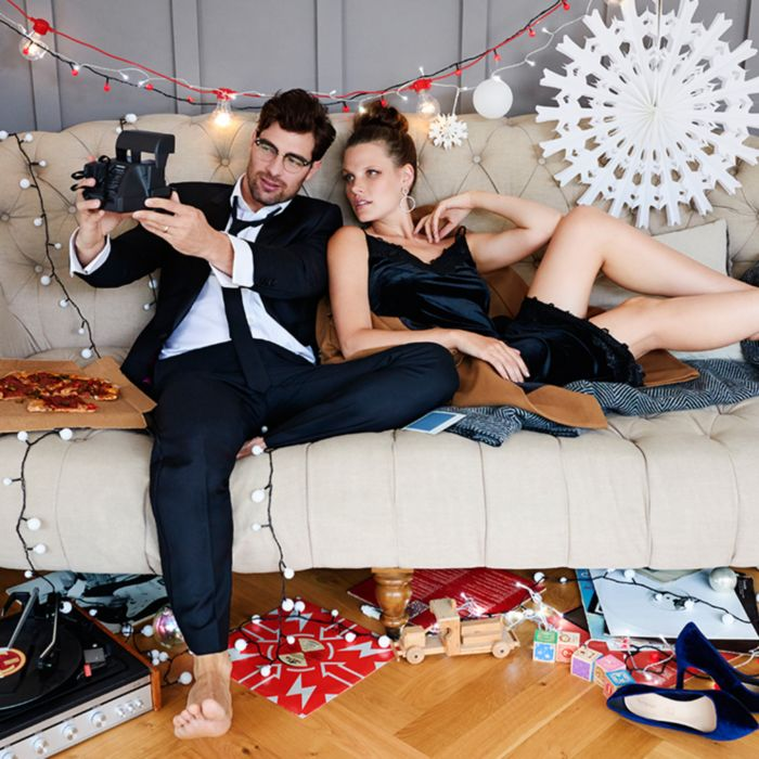 Whether you're the hostess with the mostess or celebrating with a fun night  in for two, get in the festive spirit with our his-and-hers edit of  stay-at-home ... - Christmas Clothes & Party Wear Festive Outfits M&S