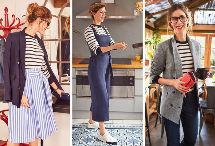 1107d2c010 It's a ubiquitous wardrobe item, but chances are you style your Breton top  the same way every time. Which is why we challenged Style & Living  womenswear ...